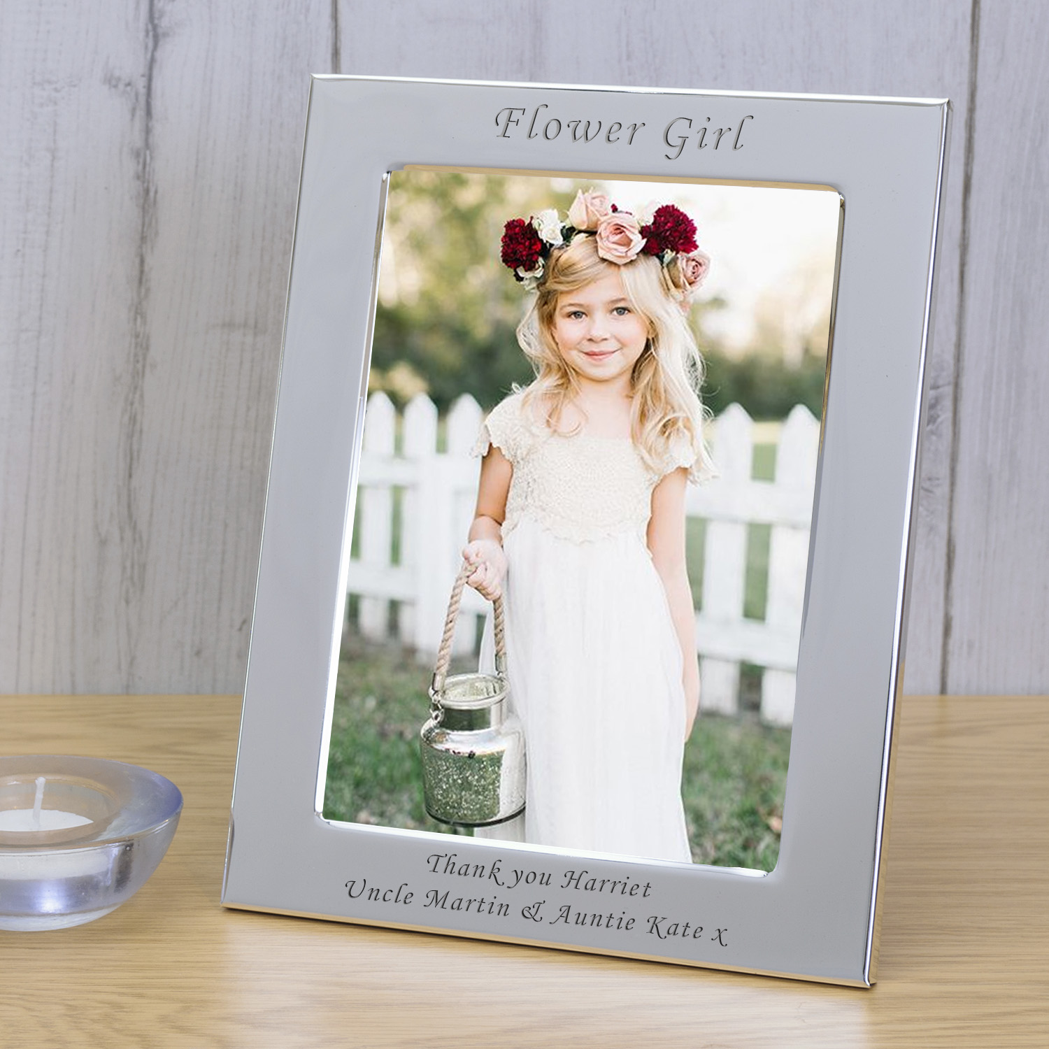 Silver Plated Frame Flower Girl