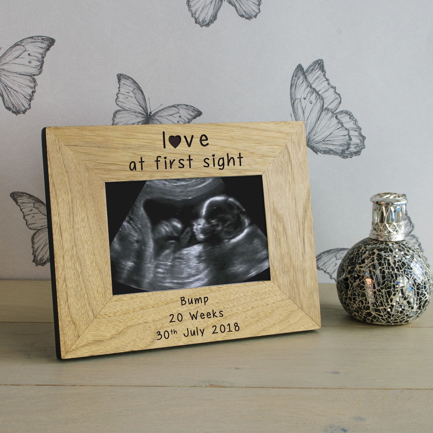 Love At First Sight Wood Frame 6x4