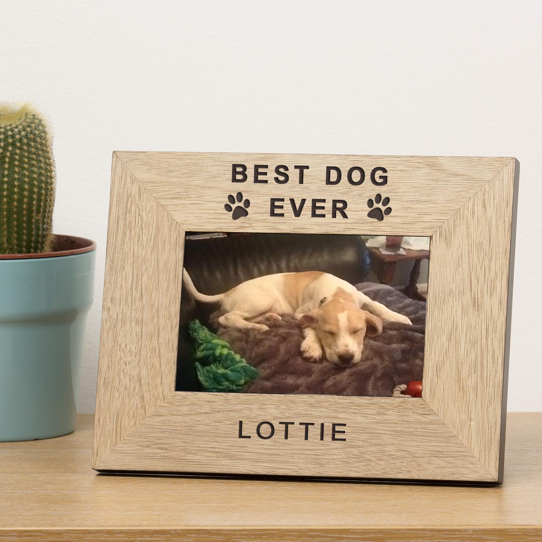 Best Dog Ever Wood Frame 7x5