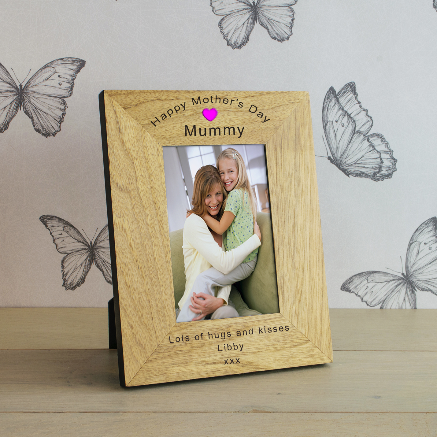 Happy Mothers Day Wood Frame 7x5