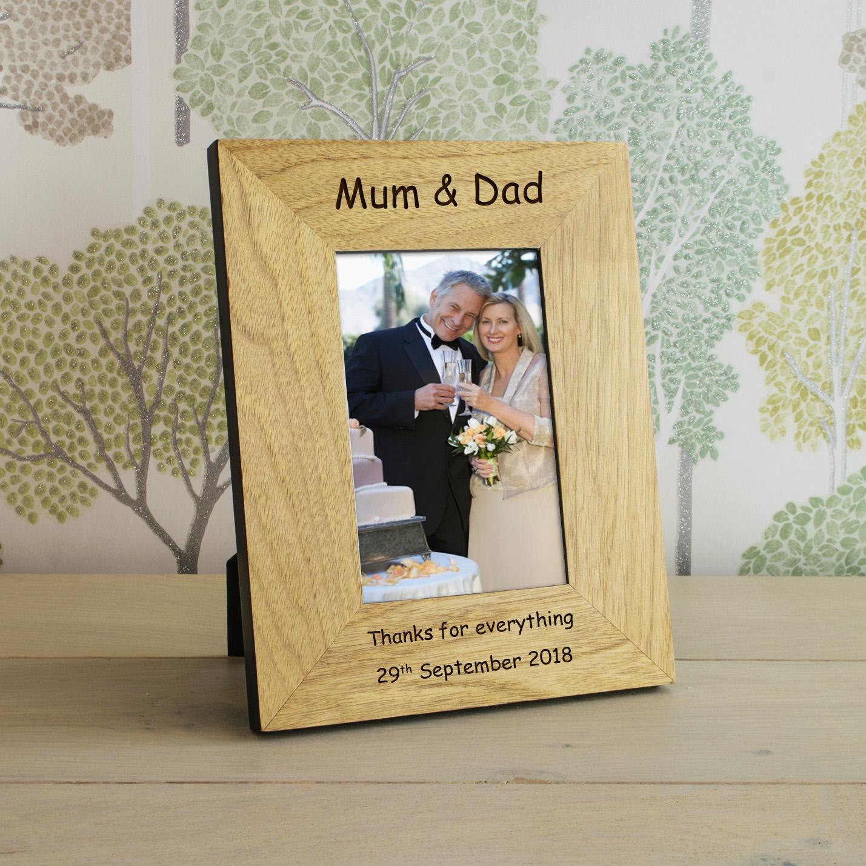 mum dad wood frame 6x4. Black Bedroom Furniture Sets. Home Design Ideas