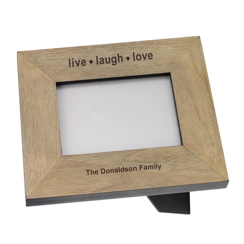 live laugh love wood frame 7x5