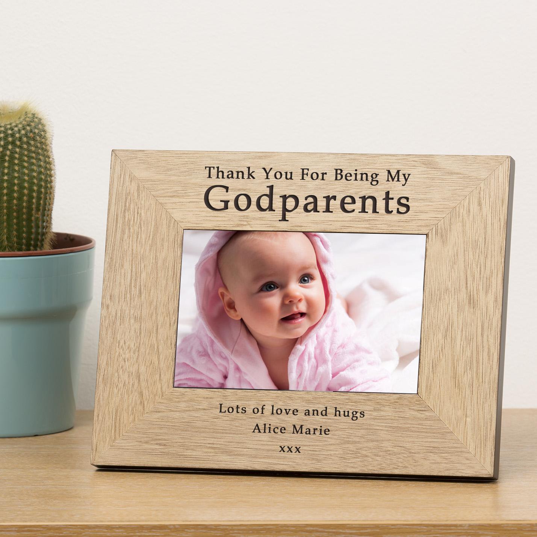 Godparents Wood Frame 7x5
