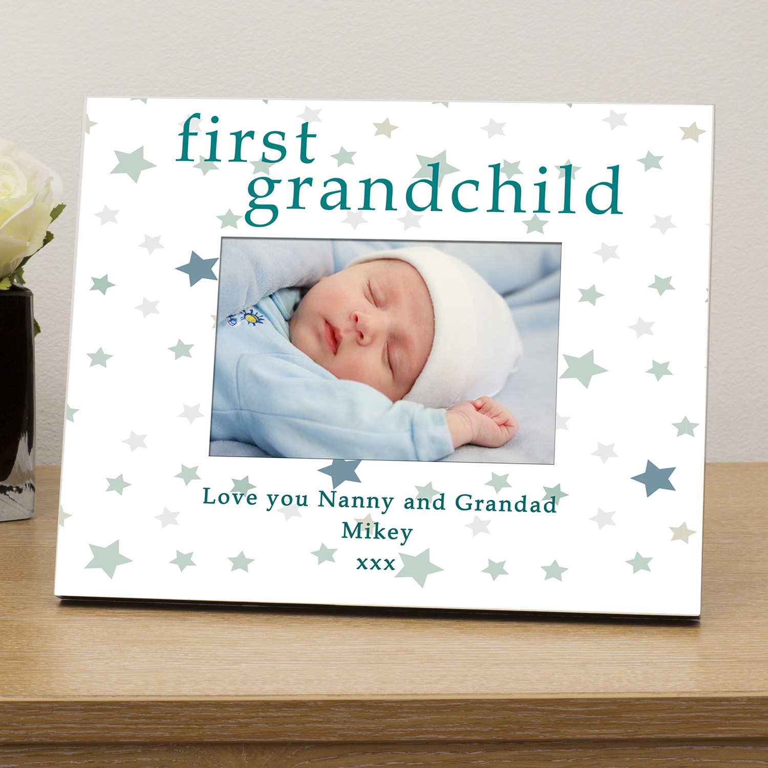 First grandchild personalised photo frame