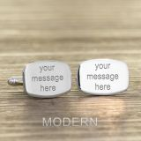 Engraved Any Message Barrel Cufflinks