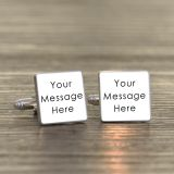 Any Message Square Cufflinks