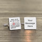 Date/Message Cufflinks