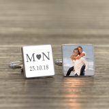 Initials and Photo Cufflinks