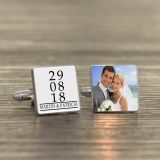 Special Date/Message & Photo Cufflinks
