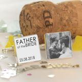 Father of the Bride/Groom Photo Cufflinks