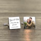 You & Me Photo Cufflinks