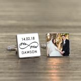 Mr & Mrs Infinity Photo Cufflinks