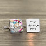 Your Message Cufflinks with Favourite Place