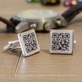 Secret Message QR Cuff Links