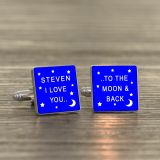 I LOVE YOU.. - Square Cufflinks