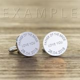 Engraved Any Message Round Cufflinks