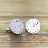 Engraved Any Message / Time Round Cufflinks