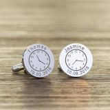 Names/Dates & Times Cufflinks