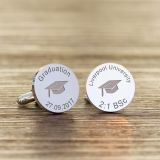 Graduation Cap Round Cufflinks