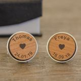 Names & Dates Cufflinks