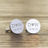 Initials and Date Cufflinks