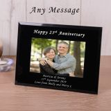 Any Message Black Glass Frame 6x4