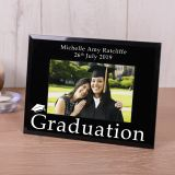 Graduation Black Glass Frame 6x4