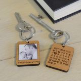 Wooden Key Ring - The day you became my Daddy!