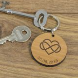 Wooden Key Ring - Infinity