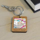 Wooden Key Ring - Favourite Place