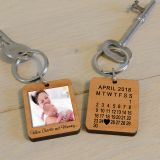 Wooden Key Ring - When...met Mummy...