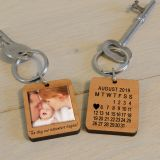 Wooden Key Ring - The day our adventure...