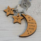 Wooden Key Ring - LITTLE STARS