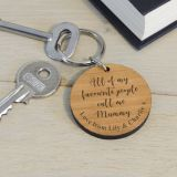 Wooden Key Ring - All of my...