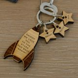Wooden Key Ring - Rocket