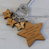 Wooden Key Ring - .. BIG STAR