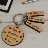 Wooden Key Ring - This..belongs to..
