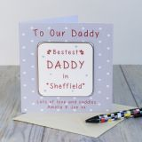 Coaster Card - Bestest Daddy