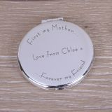 Round Compact Mirror First my Mother..