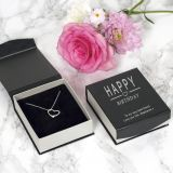 Happy Birthday Heart Pendant and Chain