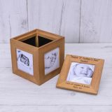 Oak Photo Cube Happy 1st Fathers Day