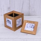 Oak Photo Cube - Any Message