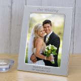 Silver Plated Frame Our Wedding