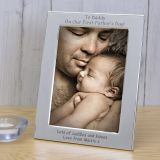 Silver Plated Frame To Daddy On...