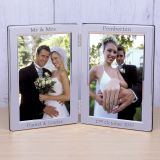 Silver Plated Double Frame Wedding