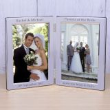 Silver Plated Double Frame Wedding Party Role