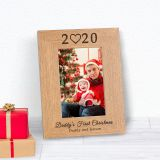 Daddys First Christmas Wood Frame 7x5