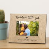 Daddys little girl/s Wood Frame 6x4