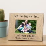were lucky to ... Wood Frame 6x4