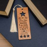 Wooden Bookmark - Moon and Back